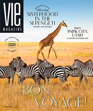 VIE Magazine - Travel Issue - January 2020 - Tanzania Safari Cover