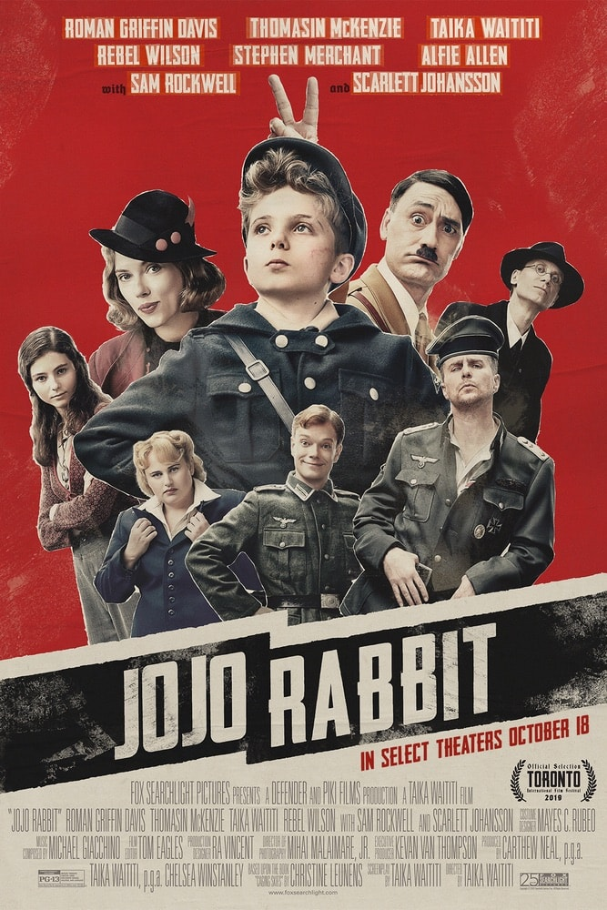 Jojo Rabbit, Twentieth Century Fox Film Corporation, Roman Griffin Davis, Thomasin McKenzie, Taika Waititi, Rebel Wilson, Stephen Merchant, Alfie Allen, Sam Rockwell, Scarlett Johansson, 92nd Oscars, The Oscars