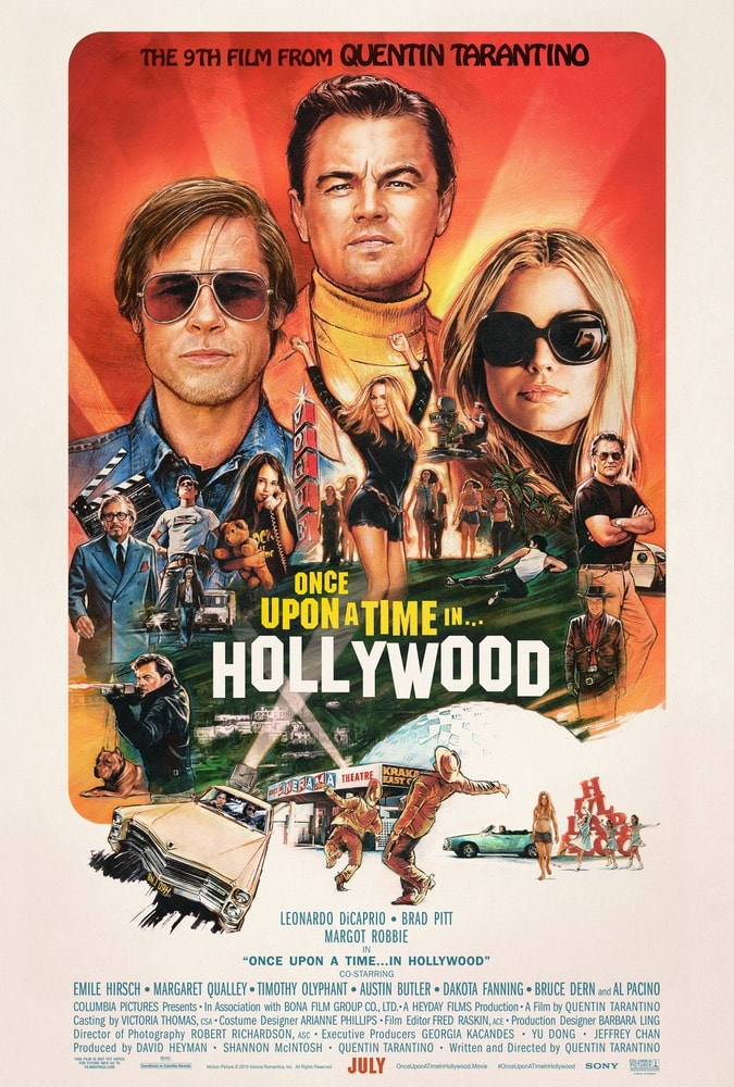 Once Upon a Time in Hollywood, Colombia Pictures, Quentin Tarantino, Leonardo DiCaprio, Brad Pitt, Margot Robbie, 92nd Oscars, The Oscars