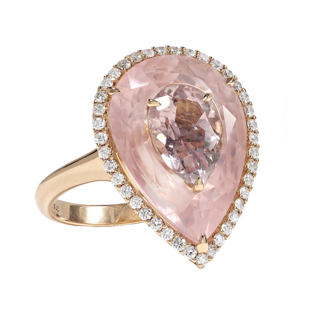 Boghossian 18-Karat Rose Gold, Morganite, and Diamond Ring, NET-A-PORTER