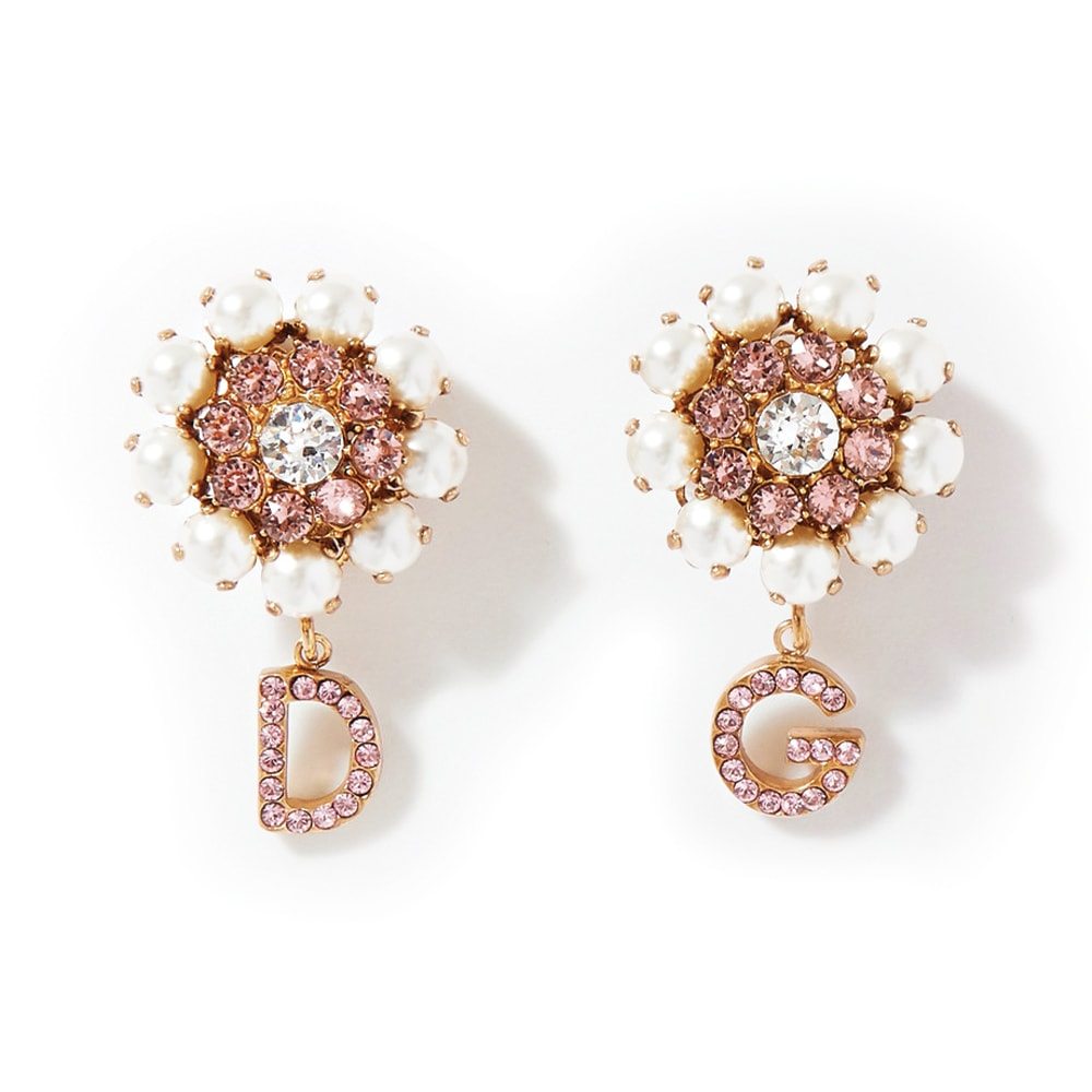 Dolce & Gabbana Gold-Tone Crystal and Faux Pearl Clip Earrings, NET-A-PORTER