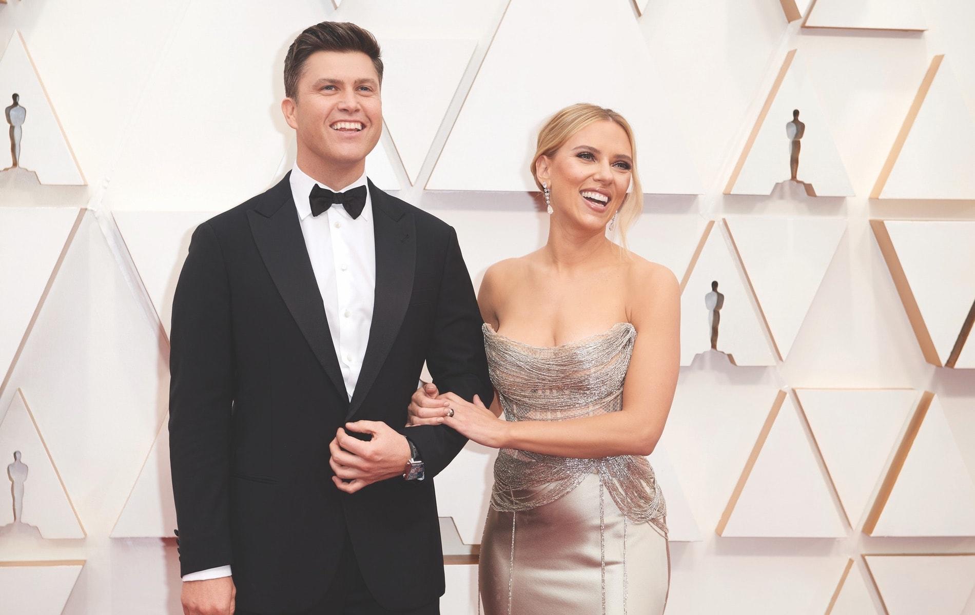 Colin Jost, Scarlett Johansson, La Scene, Academy Awards, 92nd Academy Awards, The Oscars, 92nd Oscars, Dolby Theatre, red carpet