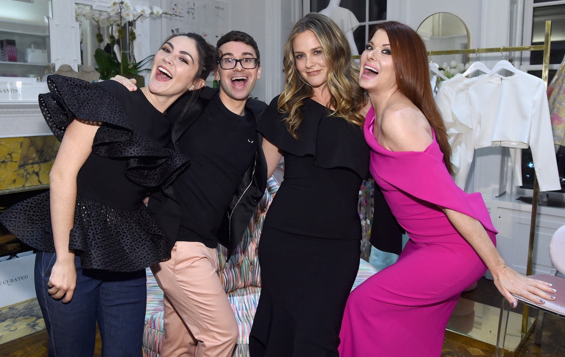 Christian Siriano, The Curated NYC, New York, New York City, Fashion, celebrities, VIE Magazine, Alicia Silverstone, Getty Images, Isabelle Fuhrman, Debra Messing