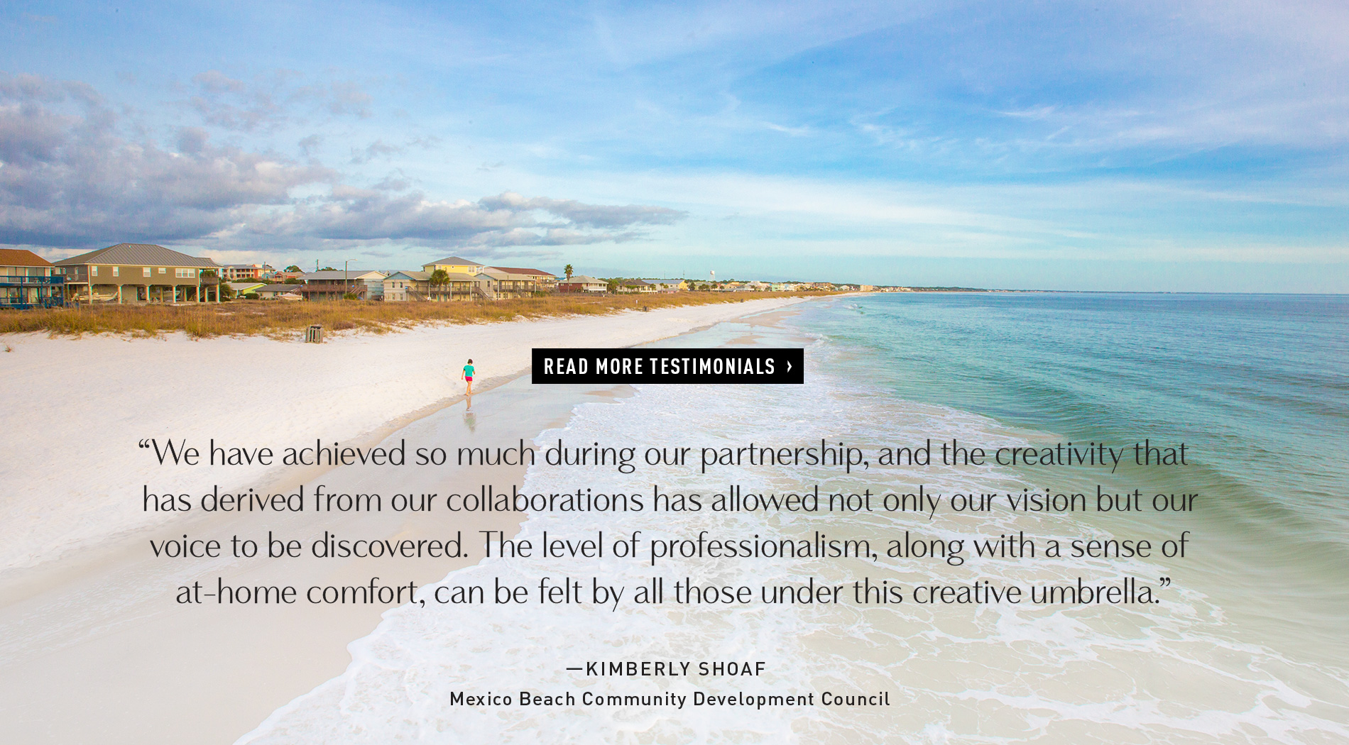 Kimberly Shoaf, Mexico Beach Community Development Council - VIE Testimonial