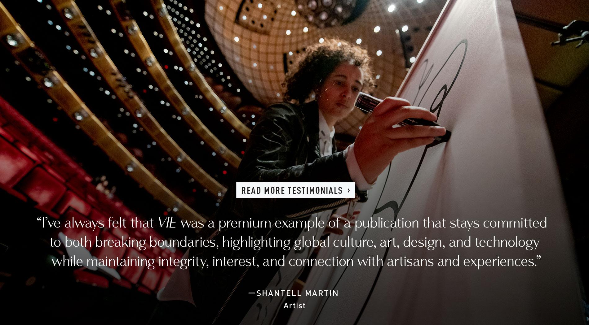 Shantell Martin, Artist - VIE Testimonial