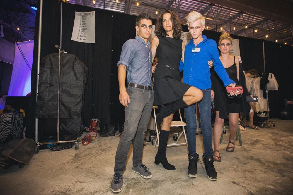 Carol Wilson and models backstage at South Walton Fashion Week 2016
