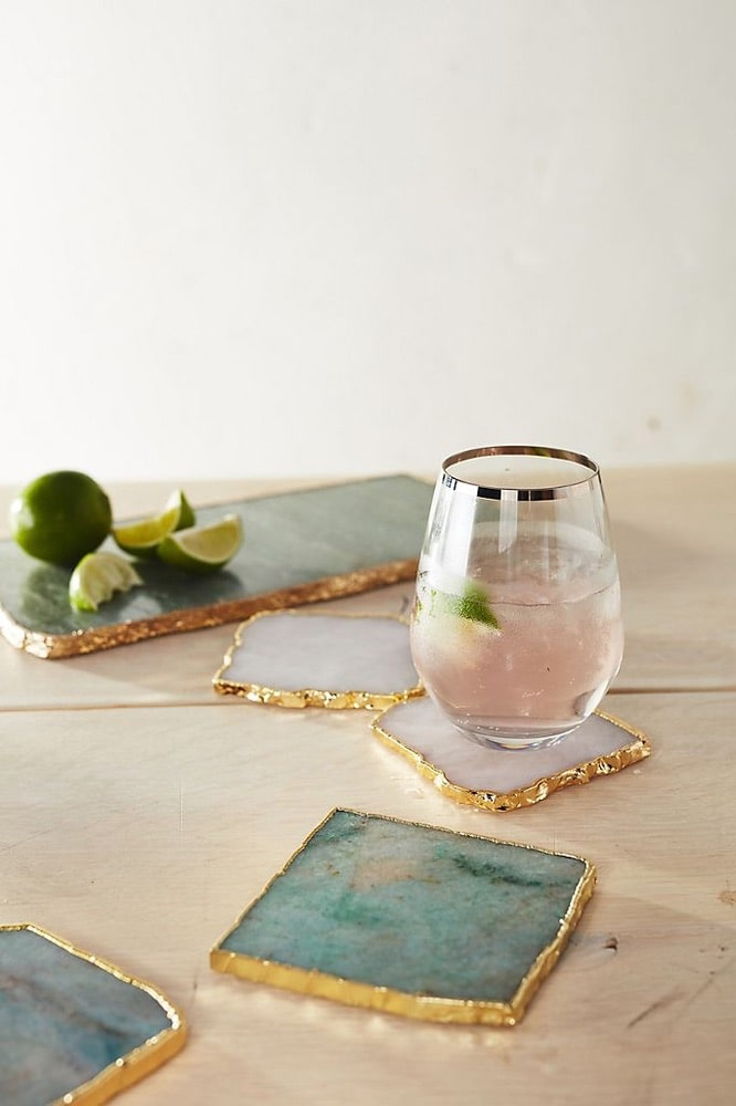 Mother's Day, Mother's Day Gift Ideas, Anthropologie, Agate Coasters