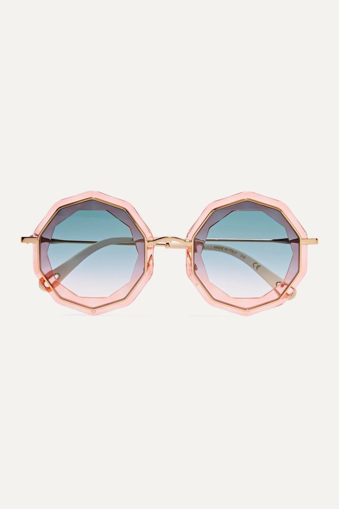 Mother's Day, Mother's Day Gift Ideas, Chloé Round-Frame Gold-Tone and Acetate Sunglasses, Chloé, NET-A-PORTER