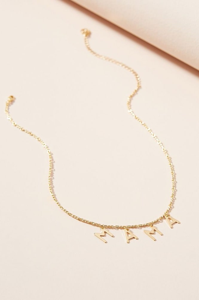 Mother's Day, Mother's Day Gift Ideas, Cloverpost Mama Necklace, Anthropologie