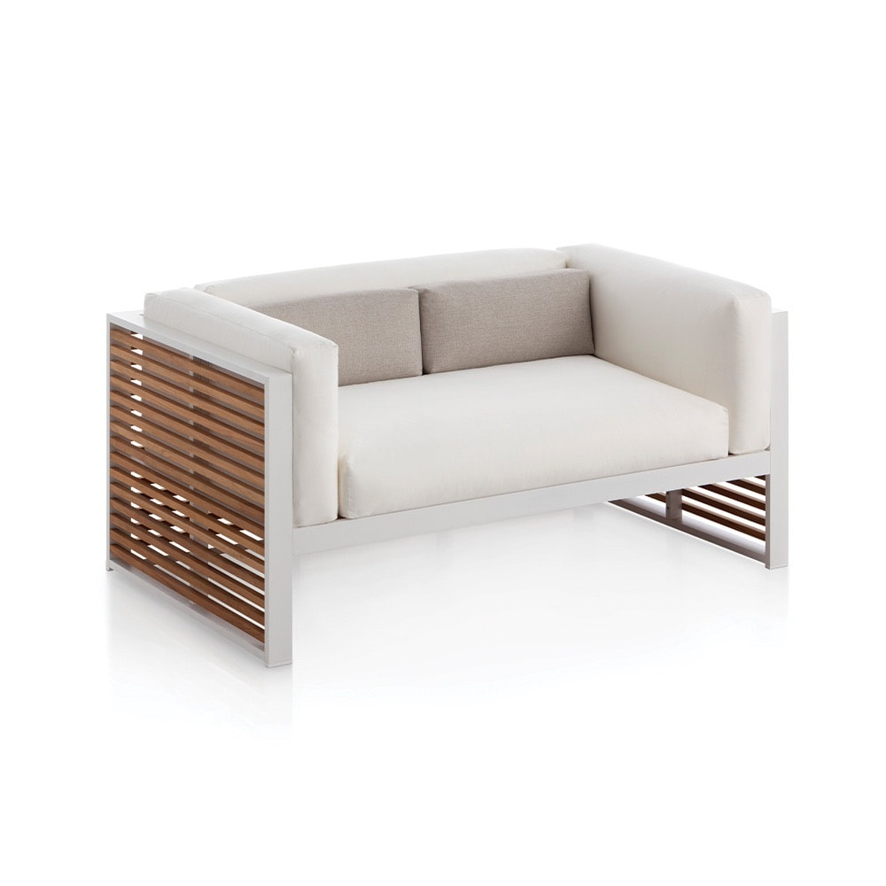 VIE Magazine, C'est la VIE Curated Collection, DNA Teak Two-Seater Outdoor Sofa, Chaplins