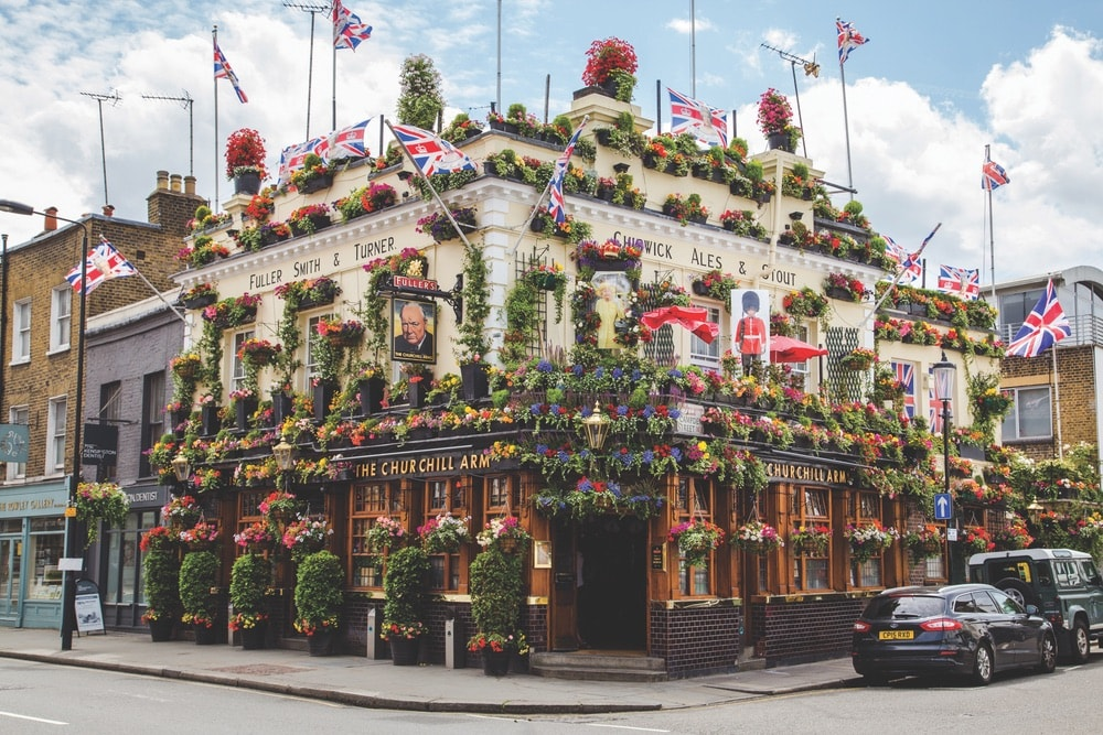 Churchill Arms, The Churchill Arm, Churchill Arms Kensington, Churchill Arms London, Chelsea Flower Show