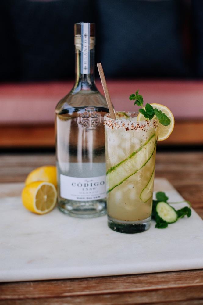 Código 1530 Cucumber Mint Margarita Cocktail Recipe for National Tequila Day 2020