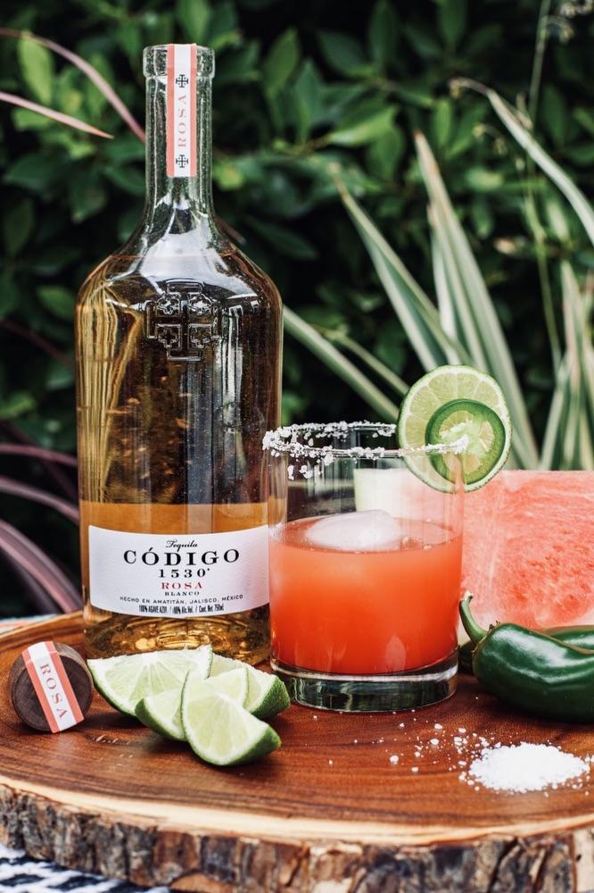 Código 1530 Spicy Watermelon Margarita Cocktail Recipe for National Tequila Day 2020