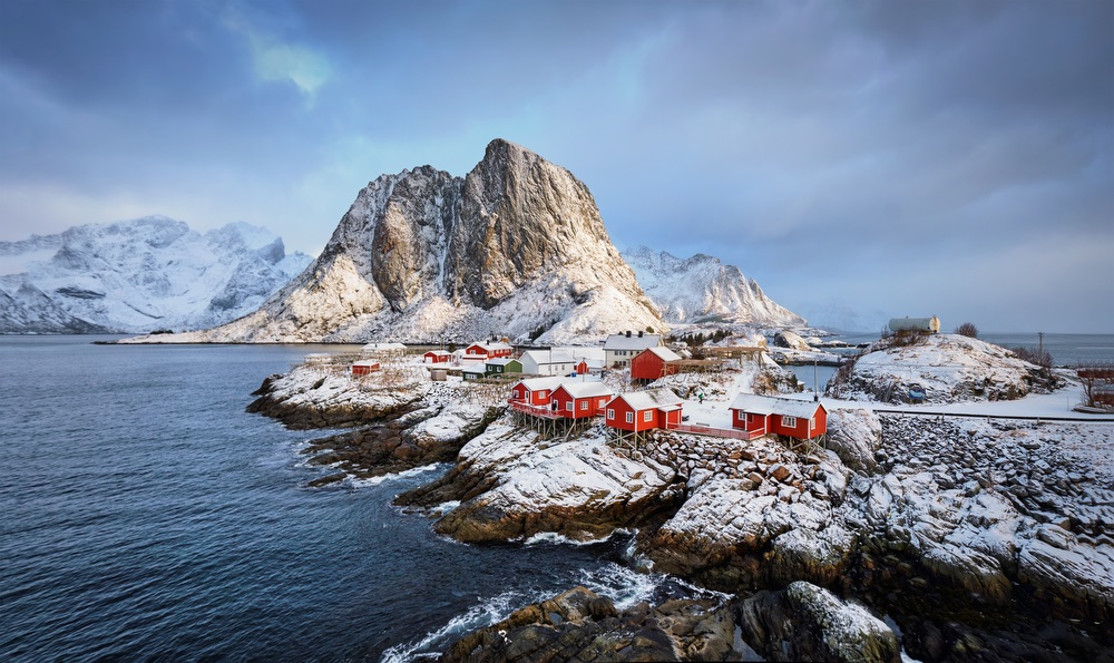 VIE magazine blog webcams at famous places Lofoten Islands Norway in snow