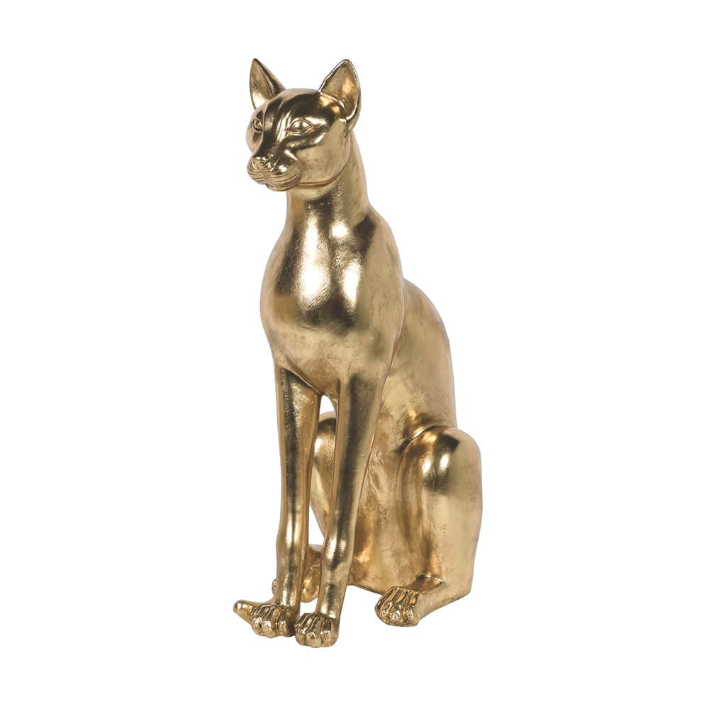 Audenza Large Golden Sphynx Cat Sculpture