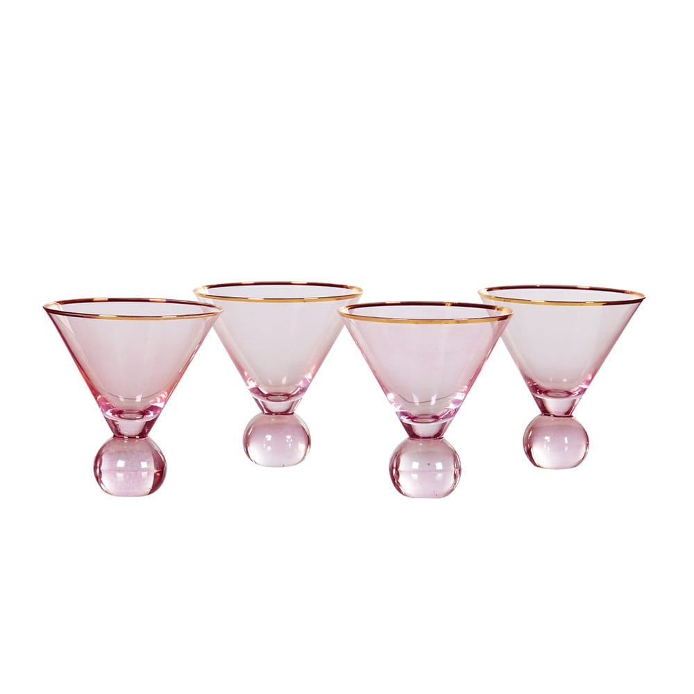 Audenza Pink Martini Gin Glasses