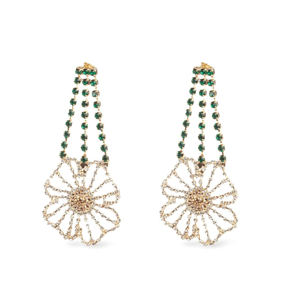NET-A-PORTER Rosantica Gold-Tone Crystal Earrings