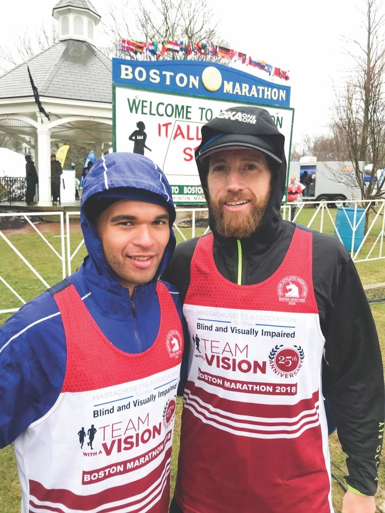 Chaz Davis, Michael Wardian, 2018 Boston Marathon, Massachusetts Association for the Blind and Visually Impaired