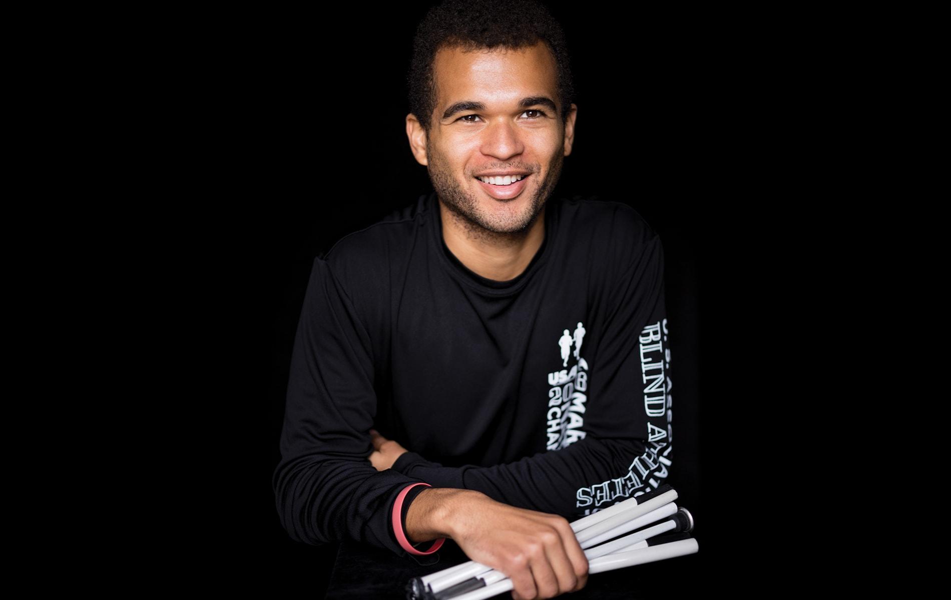 Olympic runner Chaz Davis