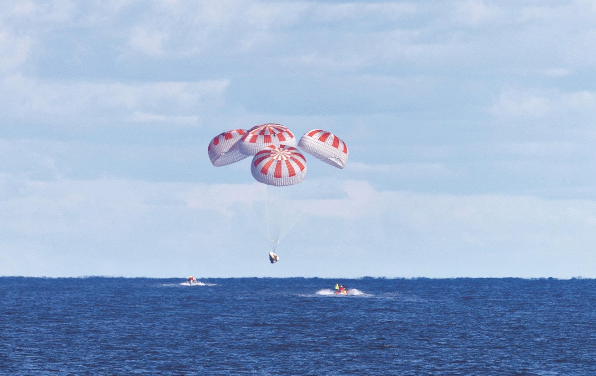 SpaceX Crew Dragon Endeavour spacecraft, SpaceX, NASA, Pensacola Florida