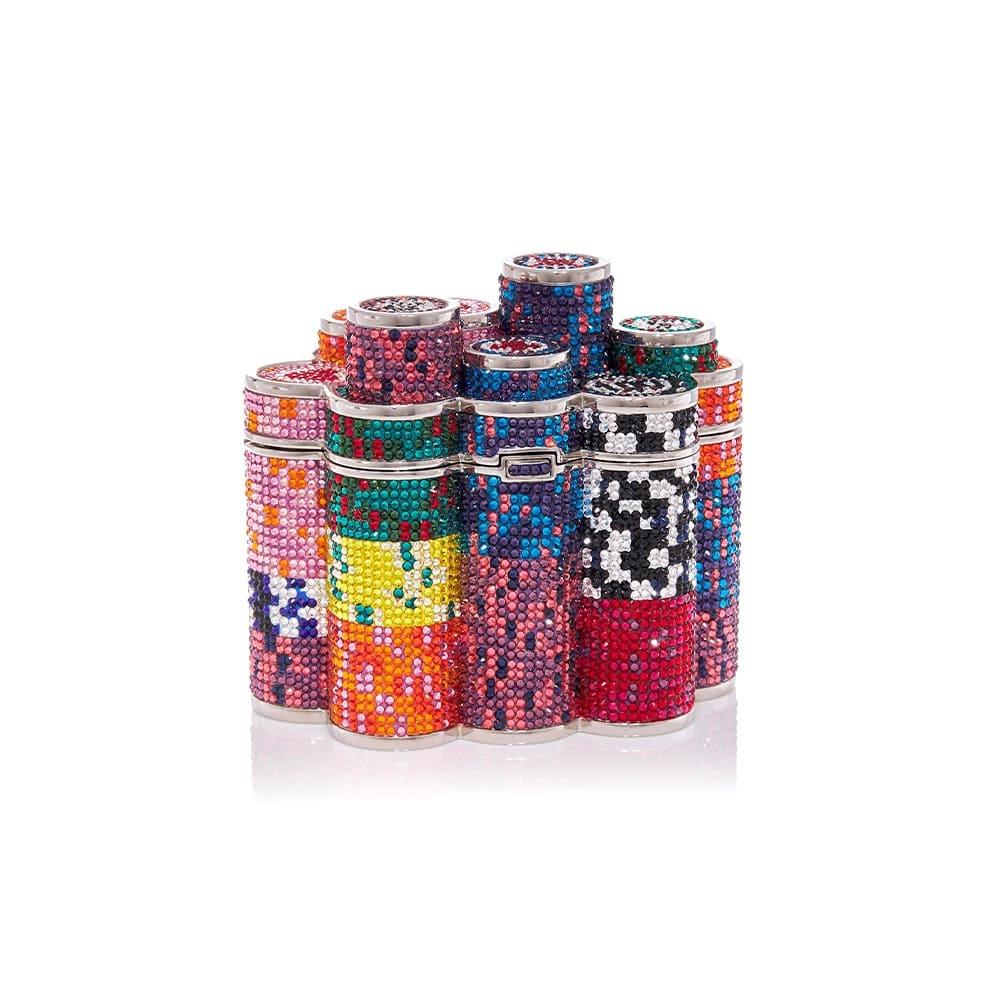 VIE Magazine C'est la VIE Curated Collection, Judith Leiber Coins Poker Chips Clutch