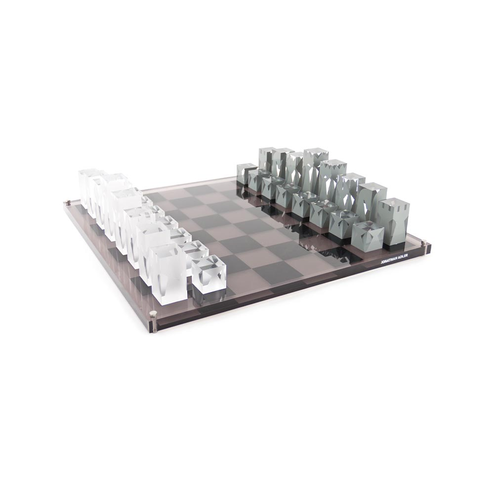 VIE Magazine C'est la VIE Curated Collection, Jonathan Adler Acrylic Chess Set