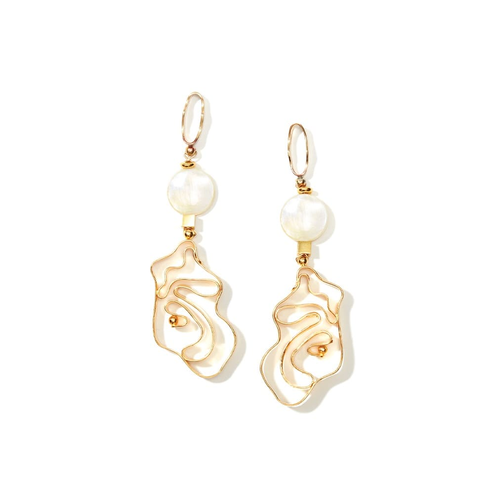 Vintage Pearl Whirlpool Earrings, Nectar Nectar