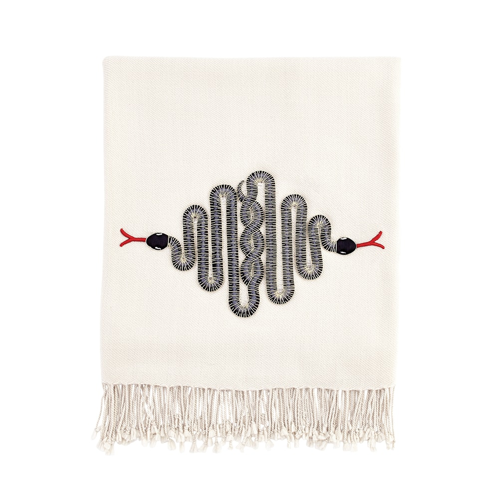 Jonathan Adler Snake Embellished Throw, VIE Magazine, C'est la VIE Curated Collection