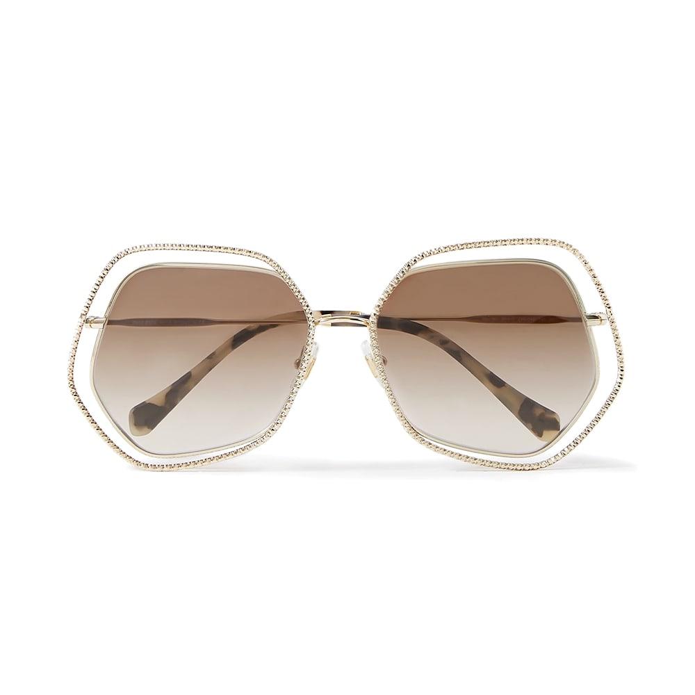 NET-A-PORTER, Miu Miu Oversize Hexagon-Framed Gold-Tone Sunglasses, VIE Magazine, C'est la VIE Curated Collection