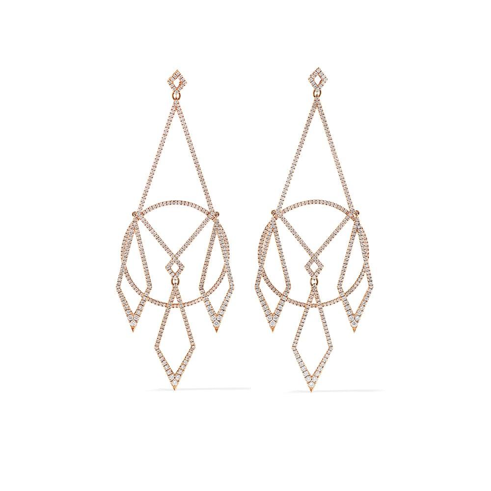 NET-A-PORTER, Diane Kordas 18-Karat Rose Gold Diamond Earrings, VIE Magazine, C'est la VIE Curated Collection