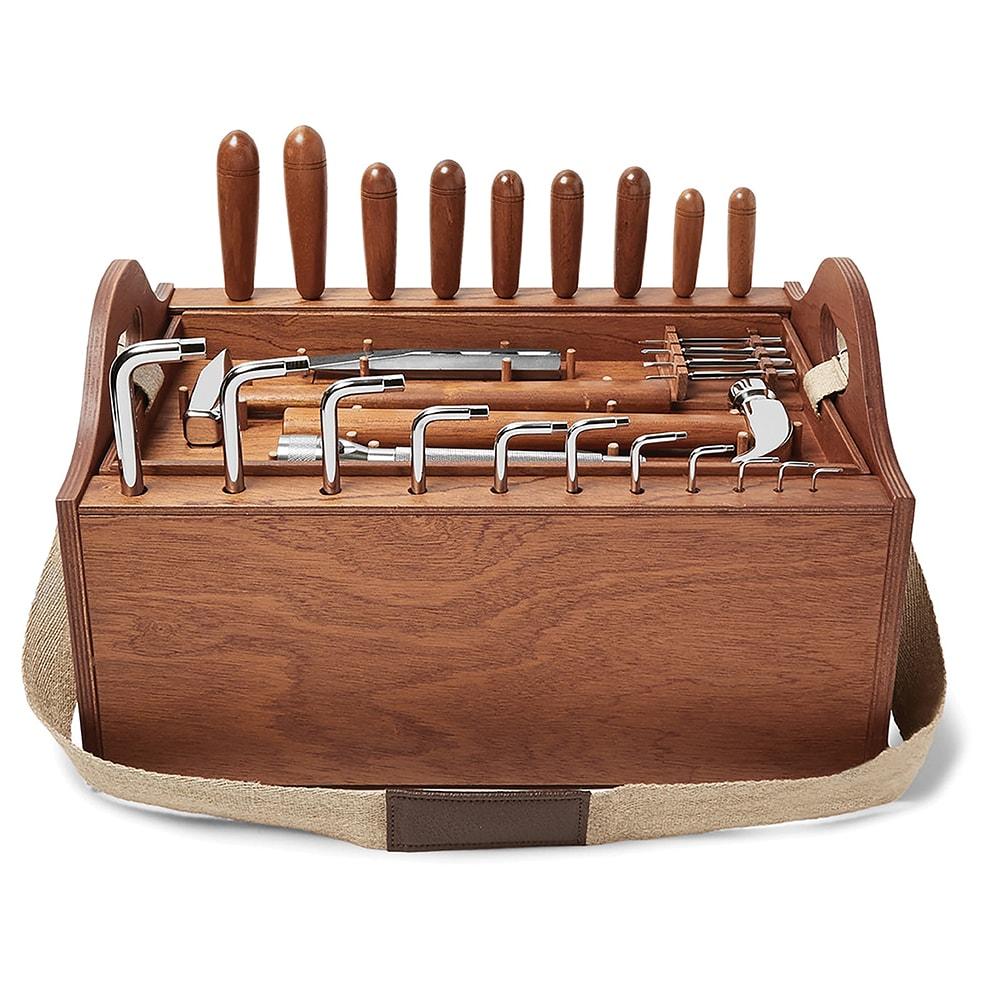 MR PORTER, Lorenzi Milano Tool Kit with Mahogany Wood Box, VIE Magazine, C'est la VIE Curated Collection