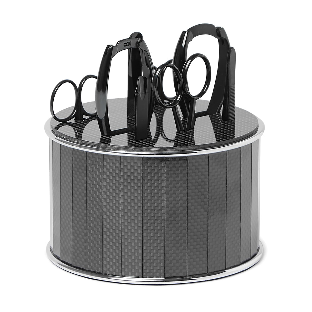 MR PORTER, Bamford Grooming Department Stainless Steel and Carbon Fiber Manicure Set, VIE Magazine, C'est la VIE Curated Collection