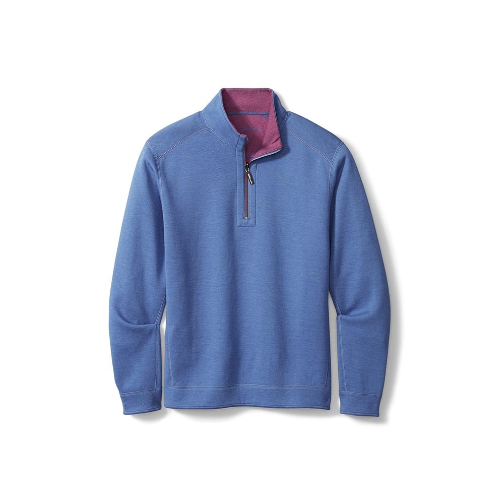 Tommy Bahama Flipshore Half-Zip Reversible Sweatshirt, VIE Magazine, C'est la VIE Curated Collection