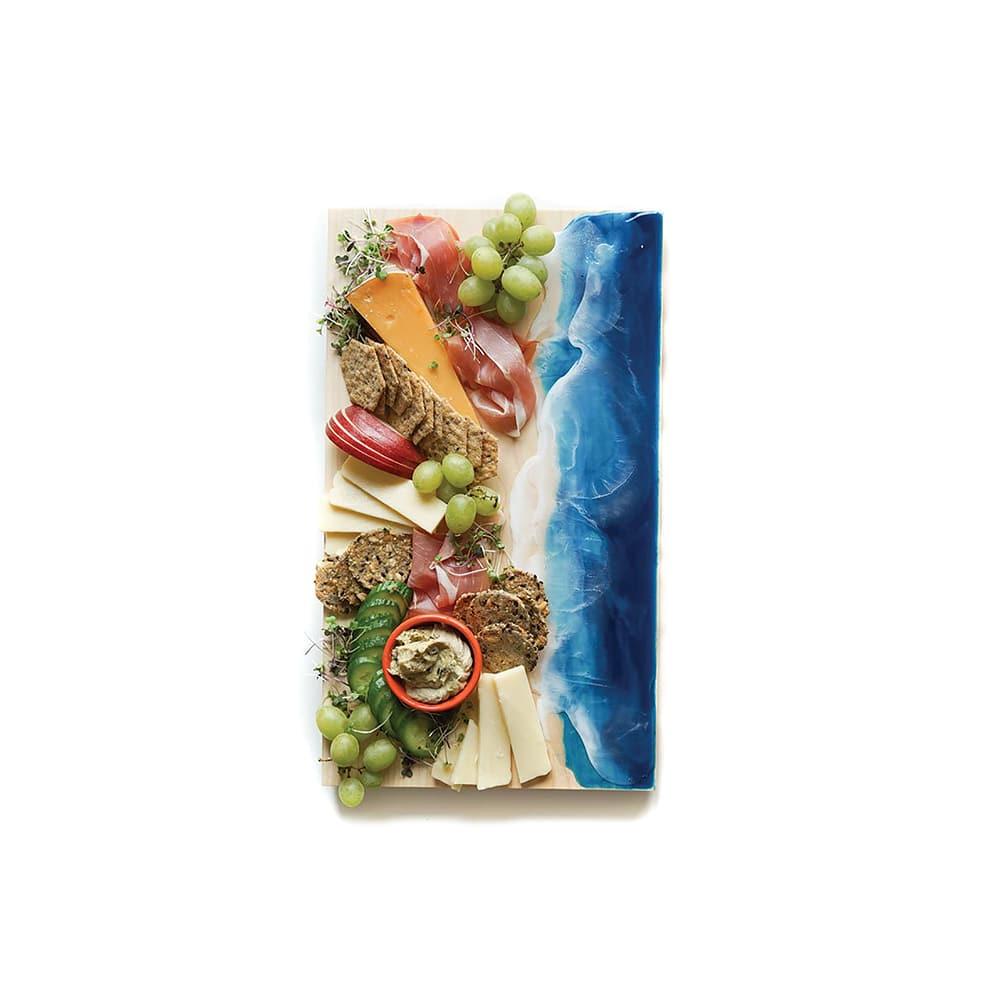 Well Told x Meghan Surette Ocean Wave Serving Board, VIE Magazine, C'est la VIE Curated Collection
