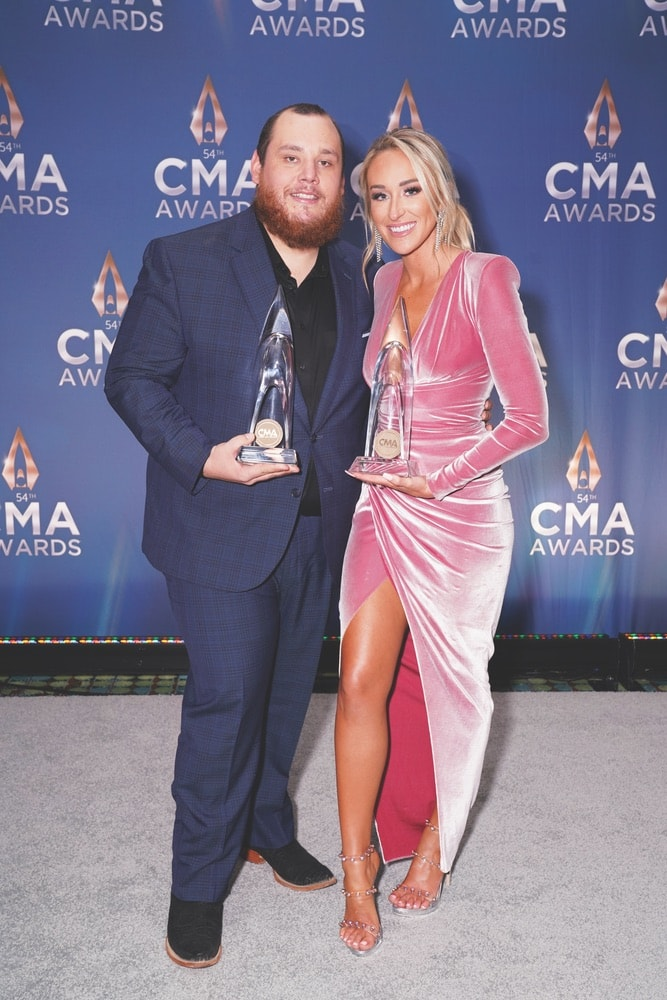 Luke Combs, Nicole Hocking, Country Music Association, Music City Center, 54th Annual Country Music Association Awards, CMA Awards