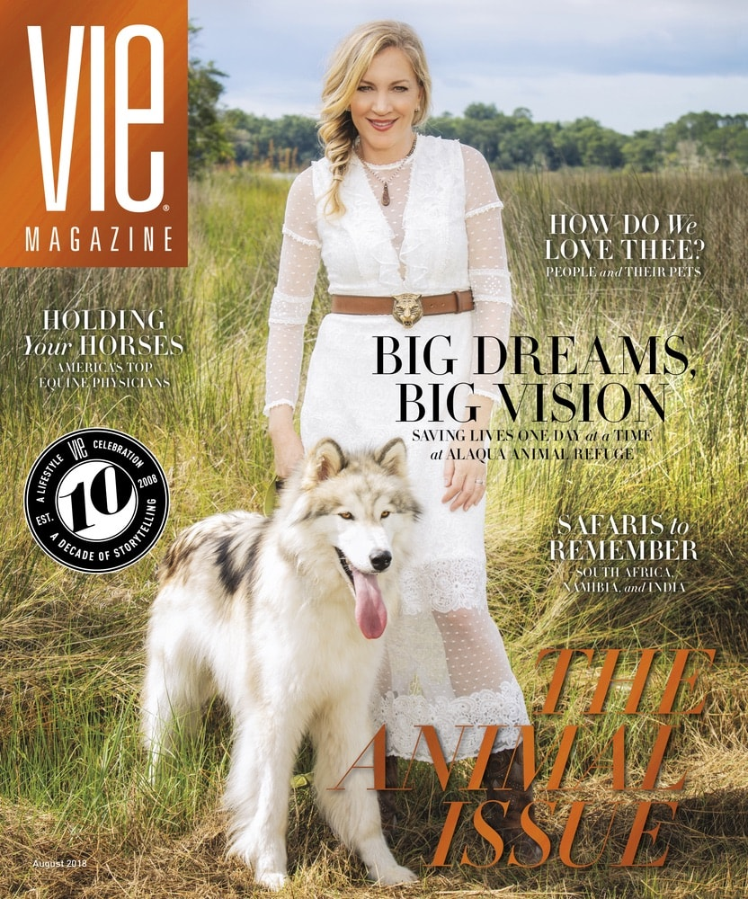 VIE Magazine, Stories with Heart and Soul, The Idea Boutique, Laurie Hood, Alaqua Animal Refuge