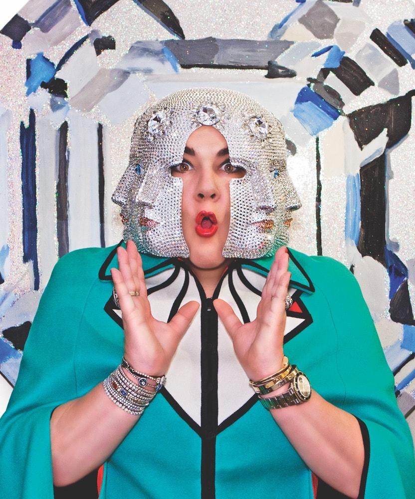 Ashley Longshore, Ashley Longshore Art, Gucci, Bergdorfs, Bergdorf Goodman