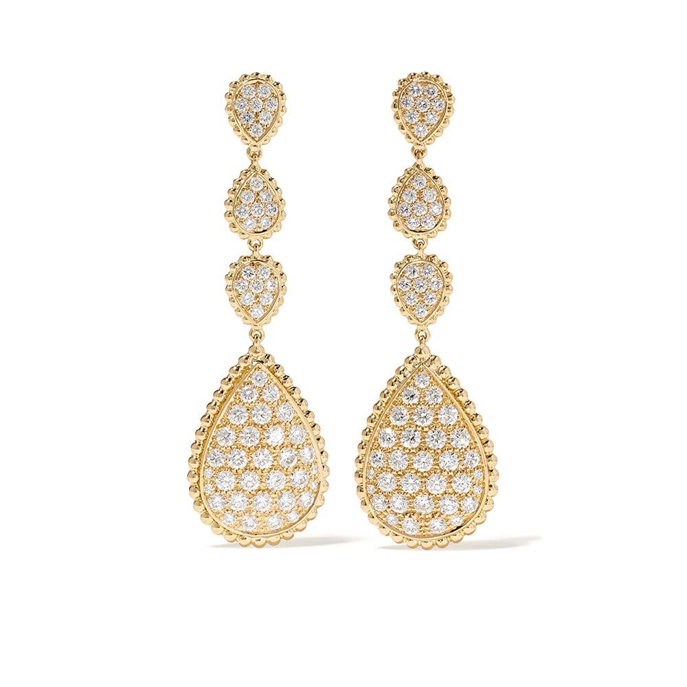 NET-A-PORTER, Boucheron Serpent Bohème 18-karat Gold Diamond Earrings