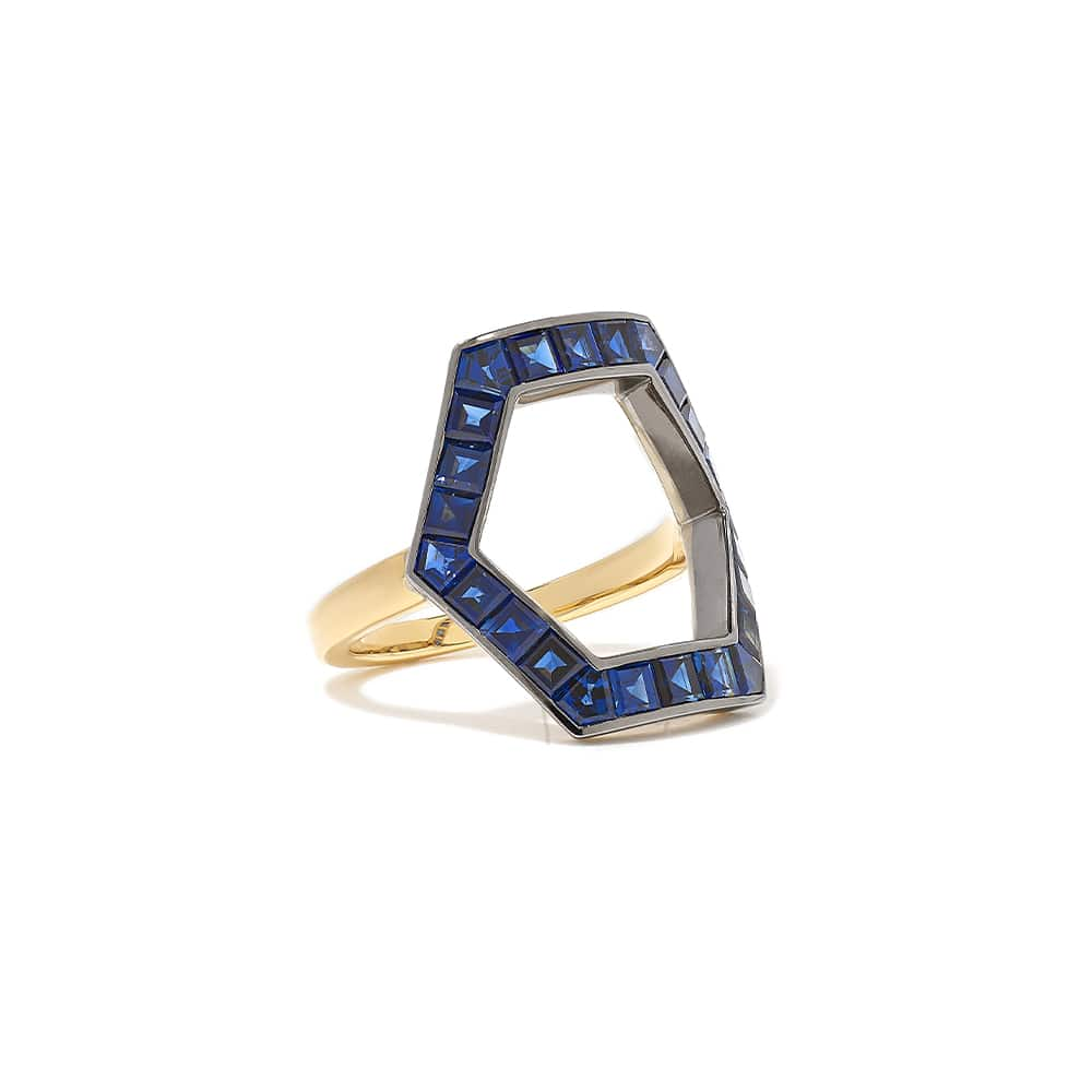 Jessica McCormack Hex 18-karat Gold and Sapphire Ring, NET-A-PORTER