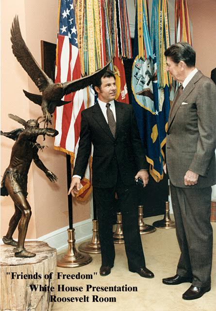 Artist Douglas Van Howd presents his sculpture