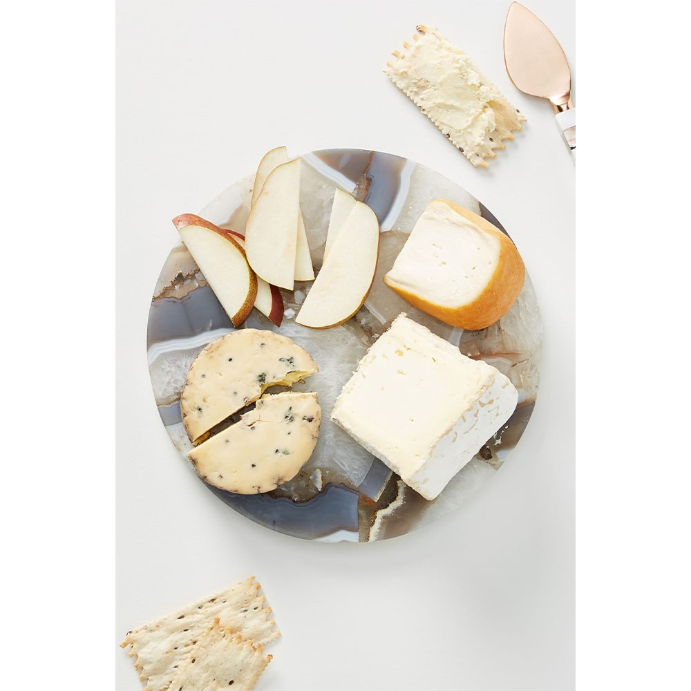 VIE Magazine C'est la VIE Curated Collection, Anthropologie Quincy Composite Agate Cheese Board