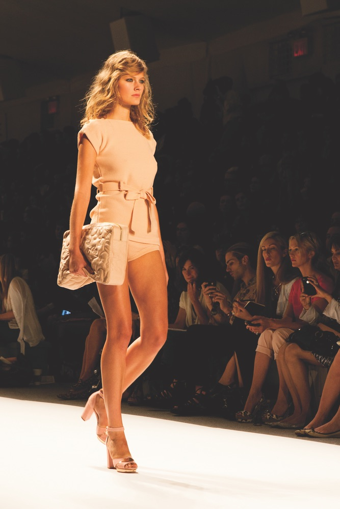 VIE Magazine, Mercedes Benz Fashion Week Spring 2012, Jill Stuart Model on Runway