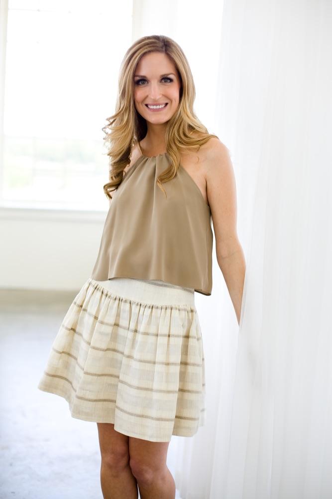 vie-magazine-leona-2, Lauren Leonard Leona Collection, stripe skirt