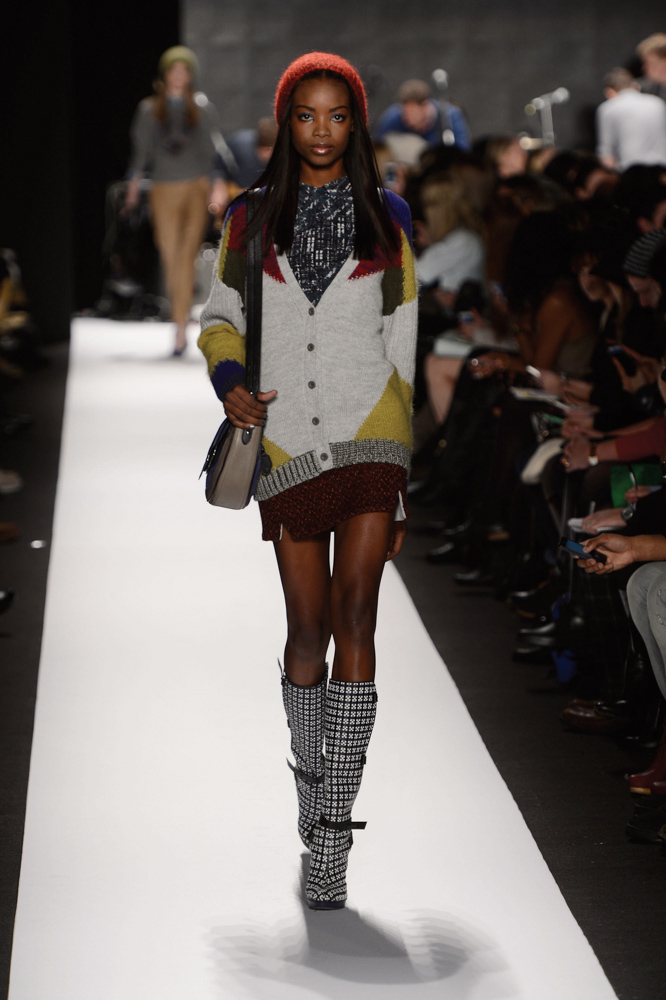 Rebecca Minkoff Model on Runway Fall 2013 Mercedes-Benz Fashion Week at Lincoln Center