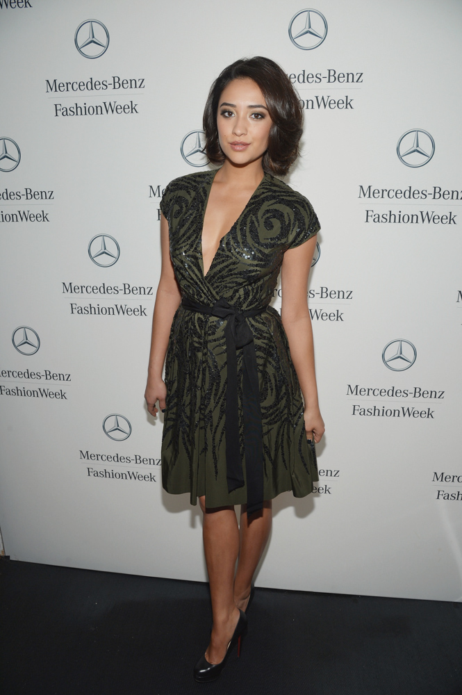 Actress/Model Shay Mitchell Mercedes-Benz Fashion Week Fall 2013