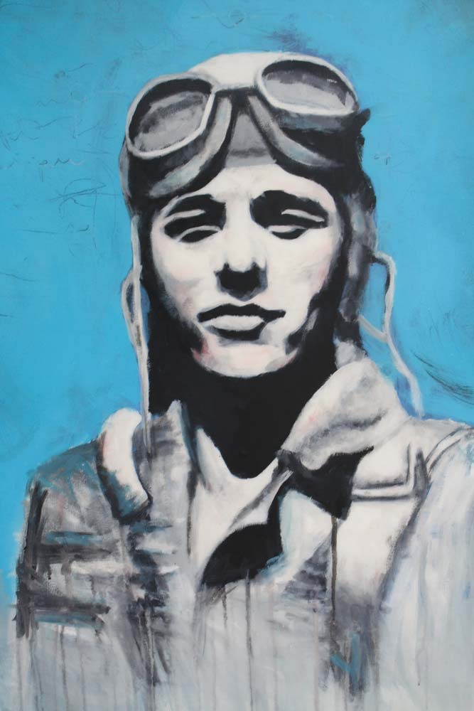 matt lyons painting of an aviator