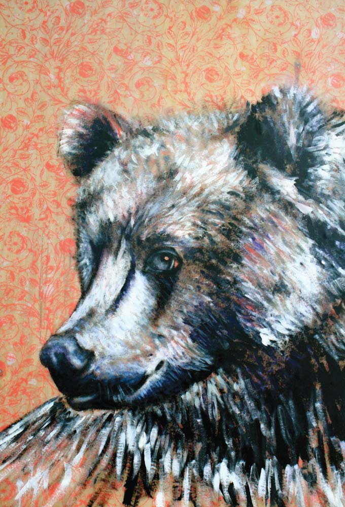matt lyons painting of a bear