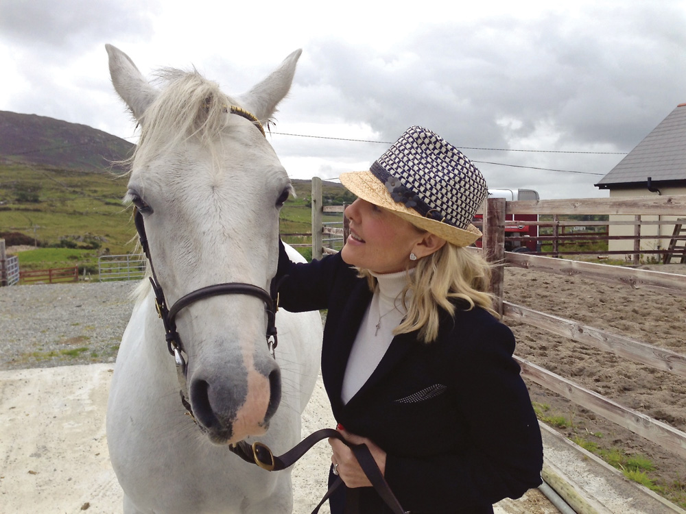 Lisa Burwell and Gentle Meg in Connemara, Ireland Photo by Gerald Burwell