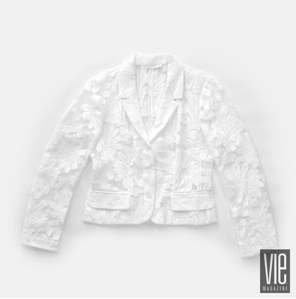 Anne Fontaine Embroidered organza floral jacket
