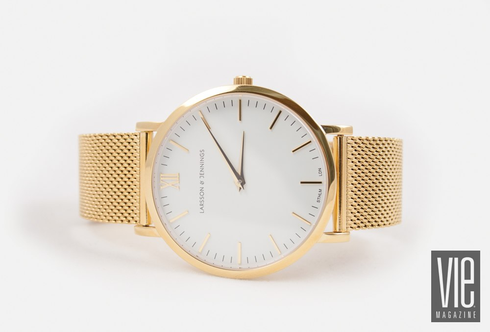 CM Gold cahin metal watch